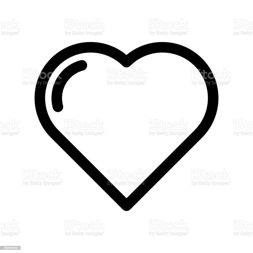Heart Icon Symbol Of Love Wedding And Saint Valentine Outline Modern
