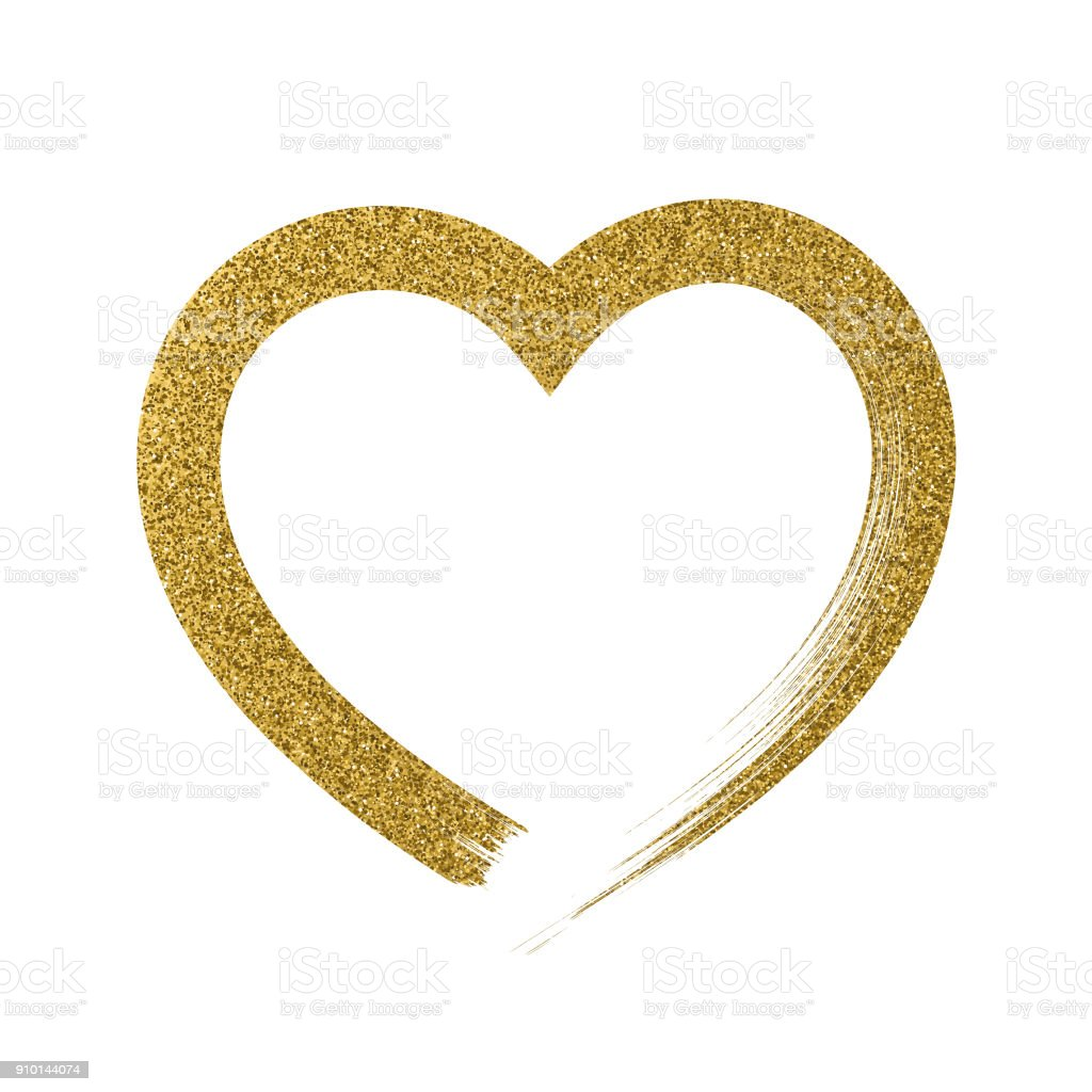 Heart icon with glitter effect, isolated on white background. royalty-free heart icon with glitter effect isolated on white background stock vector art & more images of art