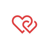 Heart icon, love concept, vector illustration. EPS 10.