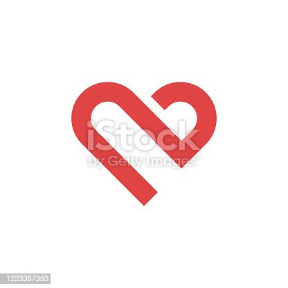 Heart icon, love concept, vector illustration. EPS 10.