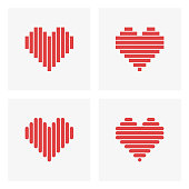 Heart icon,love concept,vector illustration. EPS 10.
