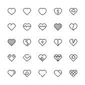 Heart Icons - Light Line Series