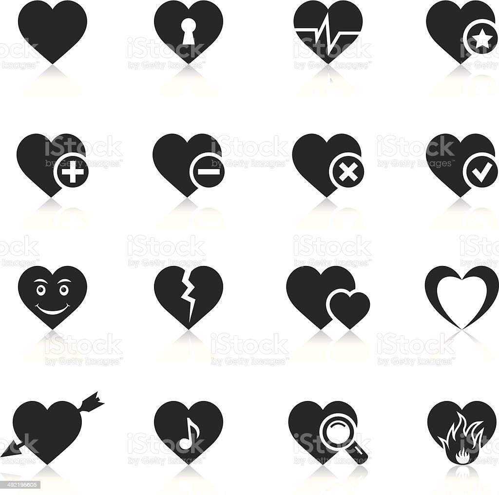 Heart Icons vector art illustration