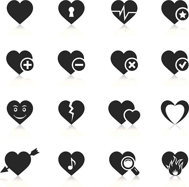 stockillustraties, clipart, cartoons en iconen met heart icons - liefdesverdriet