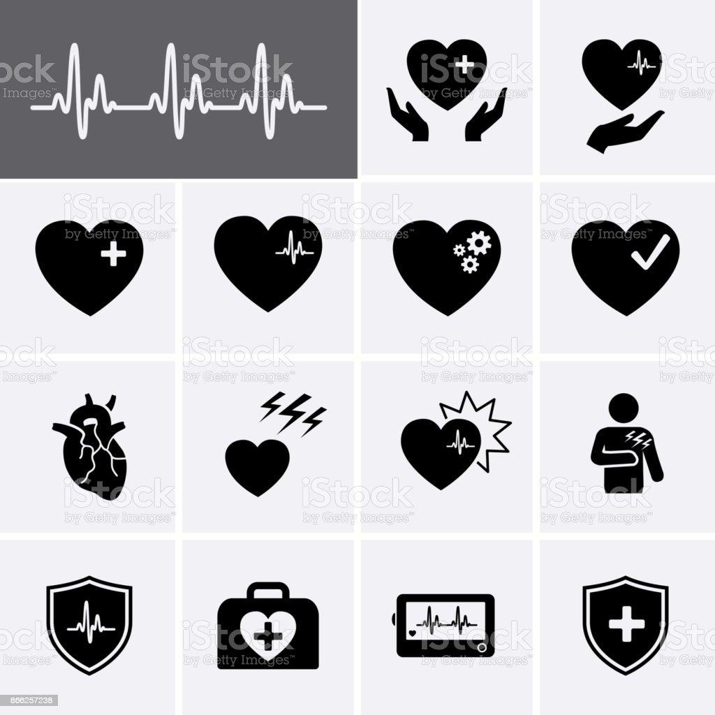 Heart Icons vector art illustration