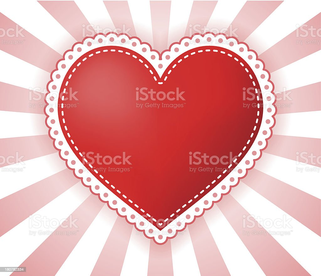 Heart illustration with dotted border royalty-free stock vector art