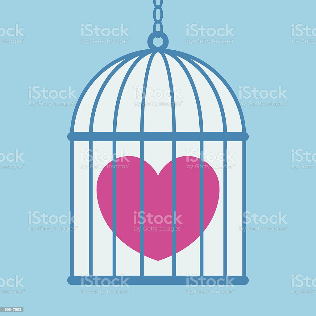 Heart in cage royalty-free heart in cage stock vector art & more images of art and craft