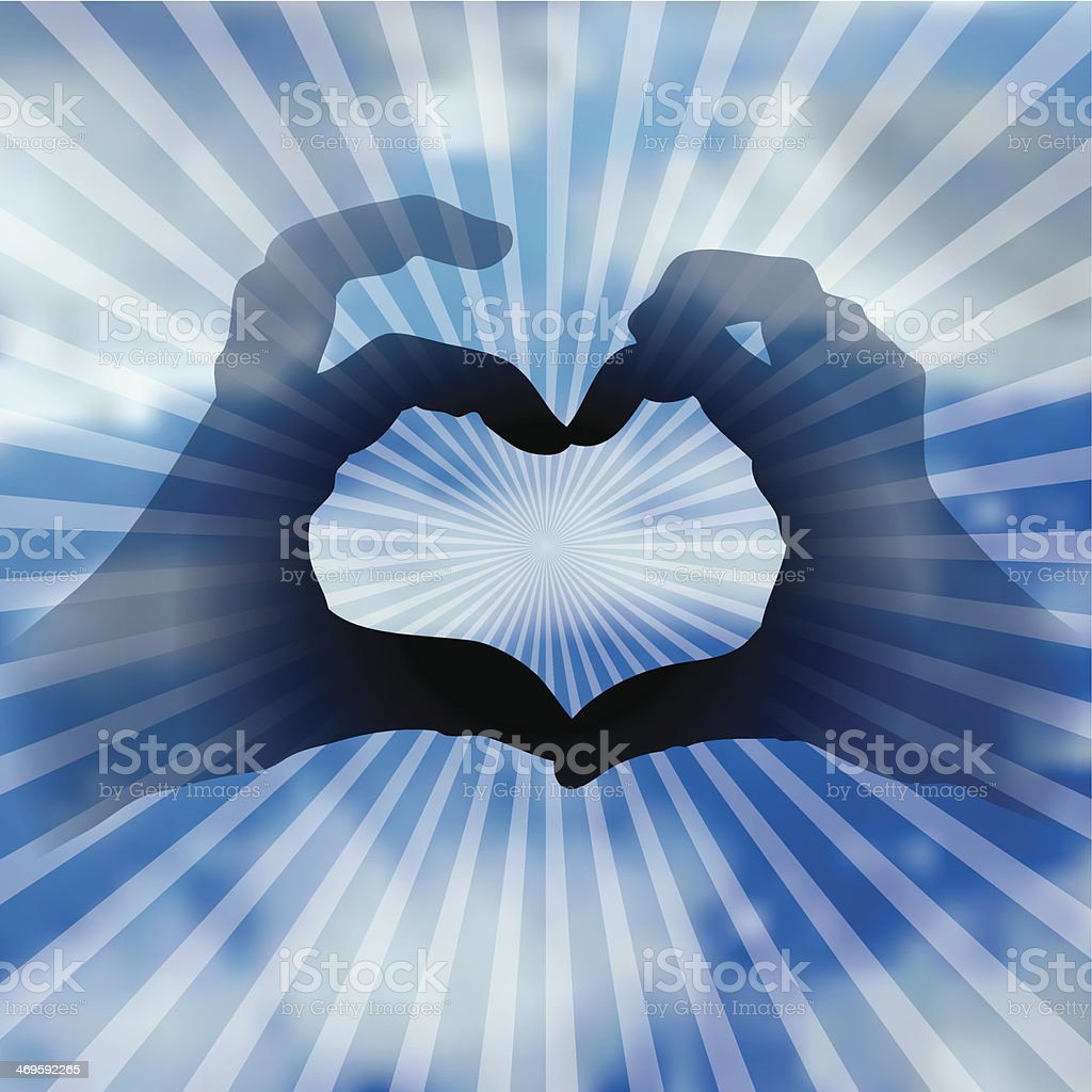 heart in clouds stock vector art & more images of blue 469592265
