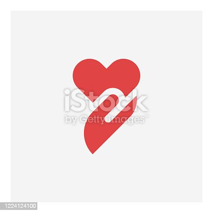 istock Heart in hand icon 1224124100