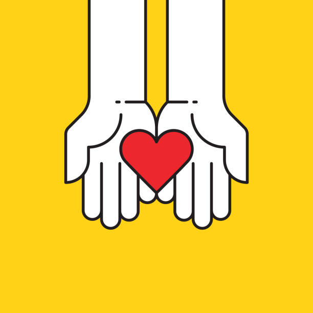 Heart in hands icon Heart in hands icon,vector illustration. EPS 10. a helping hand stock illustrations