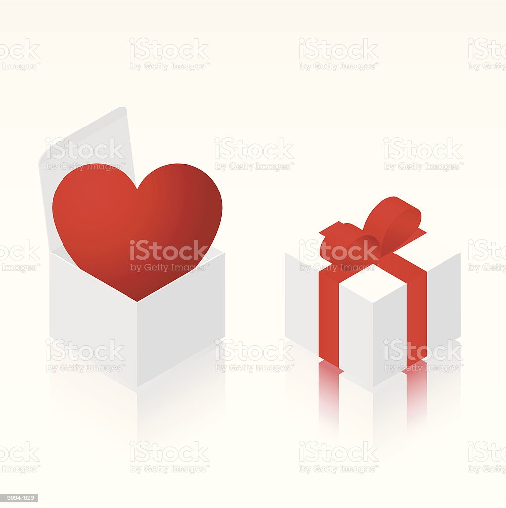Heart in isometric box royalty-free heart in isometric box stock vector art & more images of birthday