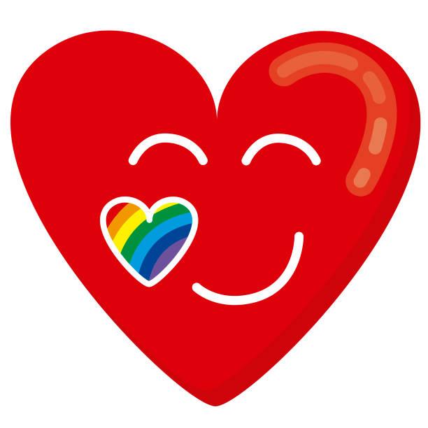 Heart in love vector art illustration