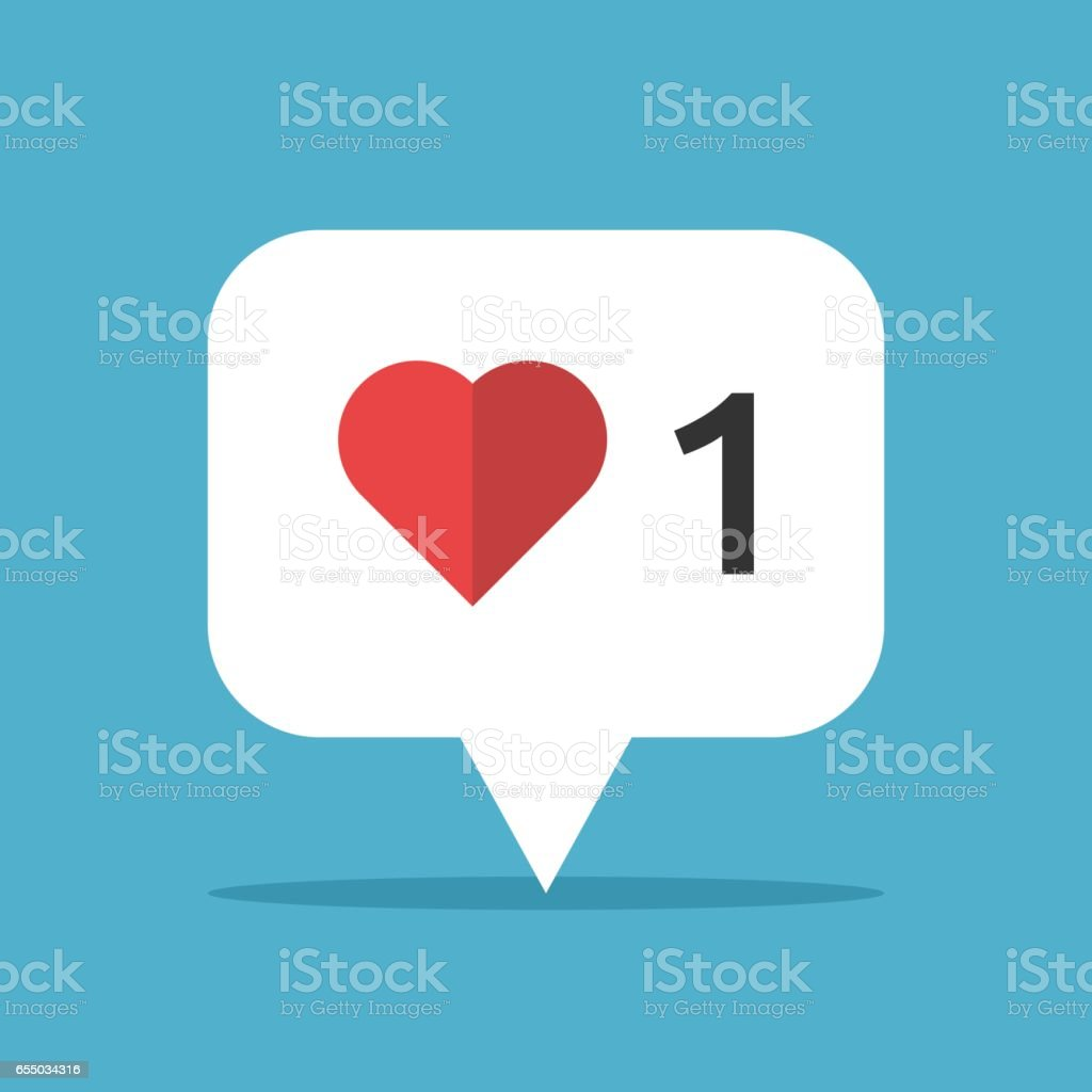 Heart in speech bubble royalty-free heart in speech bubble stock illustration - download image now