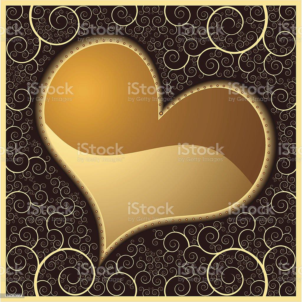 Heart in square vector art illustration