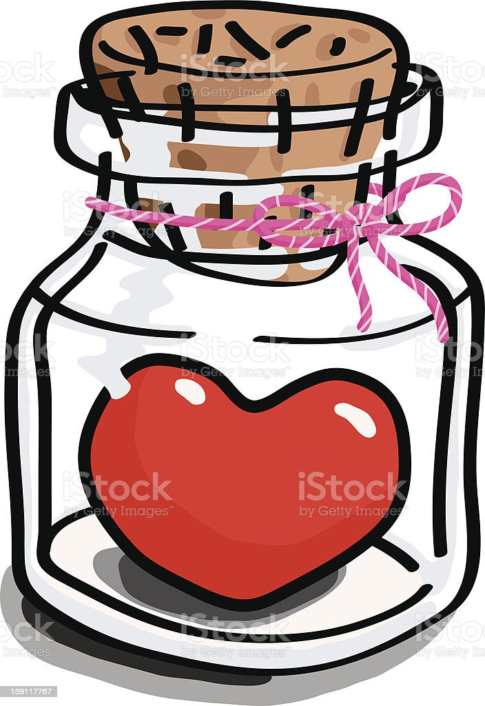 Heart in the bottle royalty-free stock vector art