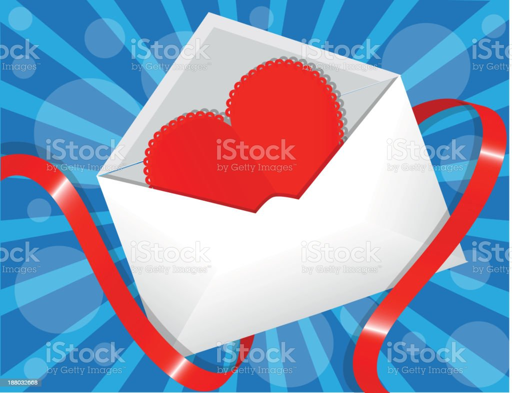 heart in the envelope royalty-free stock vector art
