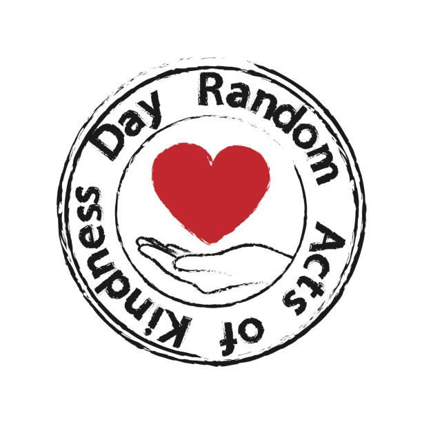 illustrazioni stock, clip art, cartoni animati e icone di tendenza di heart in the palms - random acts of kindness day - accudire