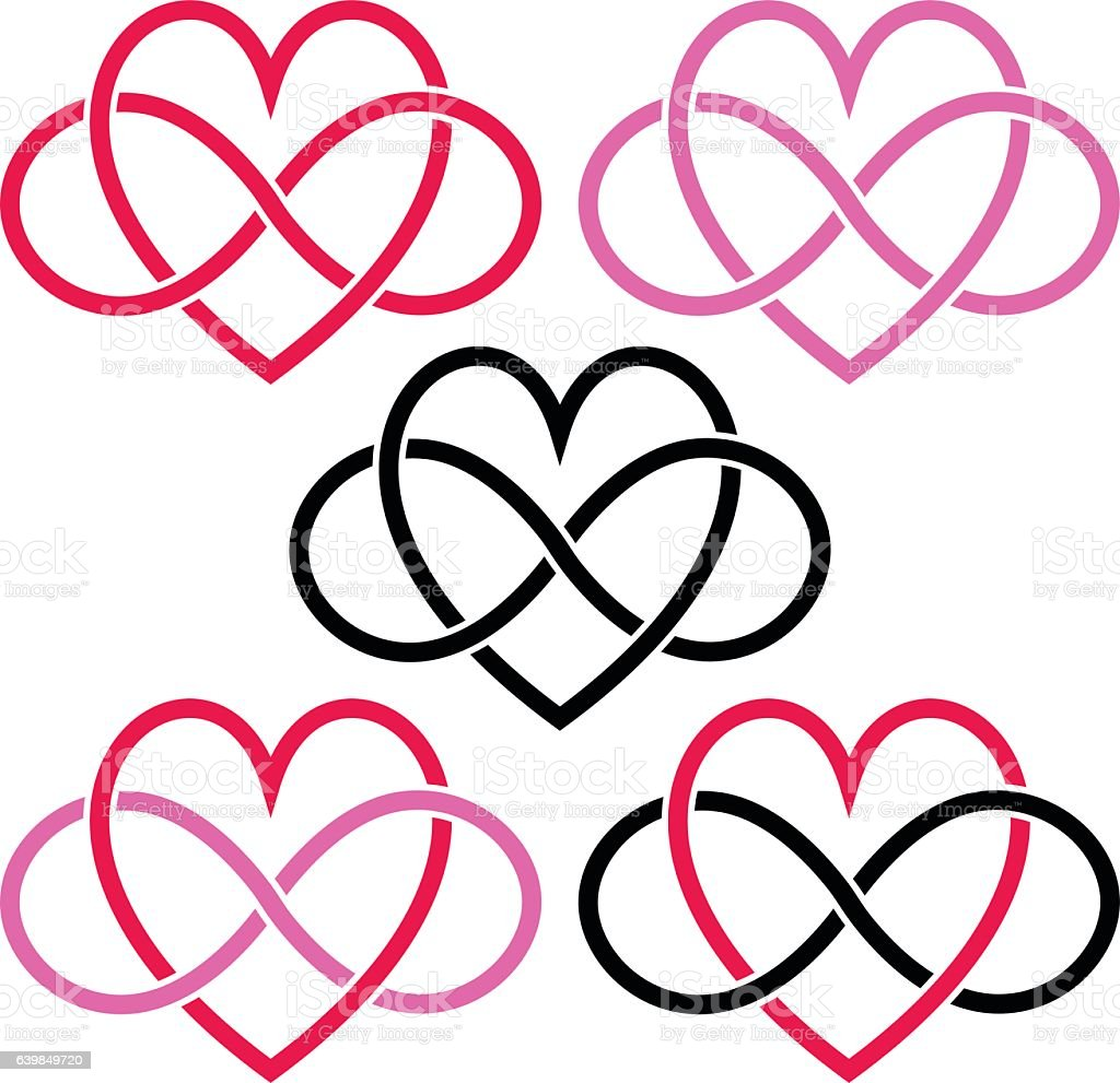 heart infinity valentine symbols stock vector art amp more