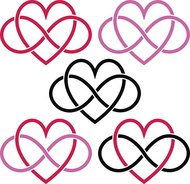 Royalty Free Heart With Infinity Symbol Clip Art Vector Images