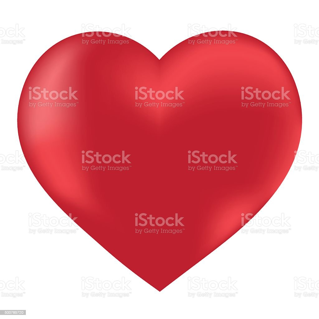 Heart isolated object vector vector art illustration