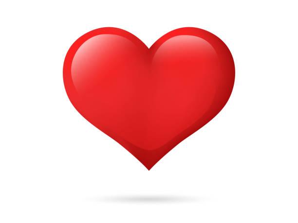 serce izolowane na białym tle. kolor czerwony. symbol miłości. walentynki. ikona lub logo. ładny prosty nowoczesny design. piękny gradient. ilustracja wektorowa w stylu płaskim. - kartka na walentynki stock illustrations