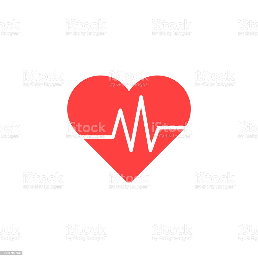 Heart Isometric health care concept red shape and heartbeat. Vector illustration. royalty-free heart isometric health care concept red shape and heartbeat vector illustration stock illustration - download image now