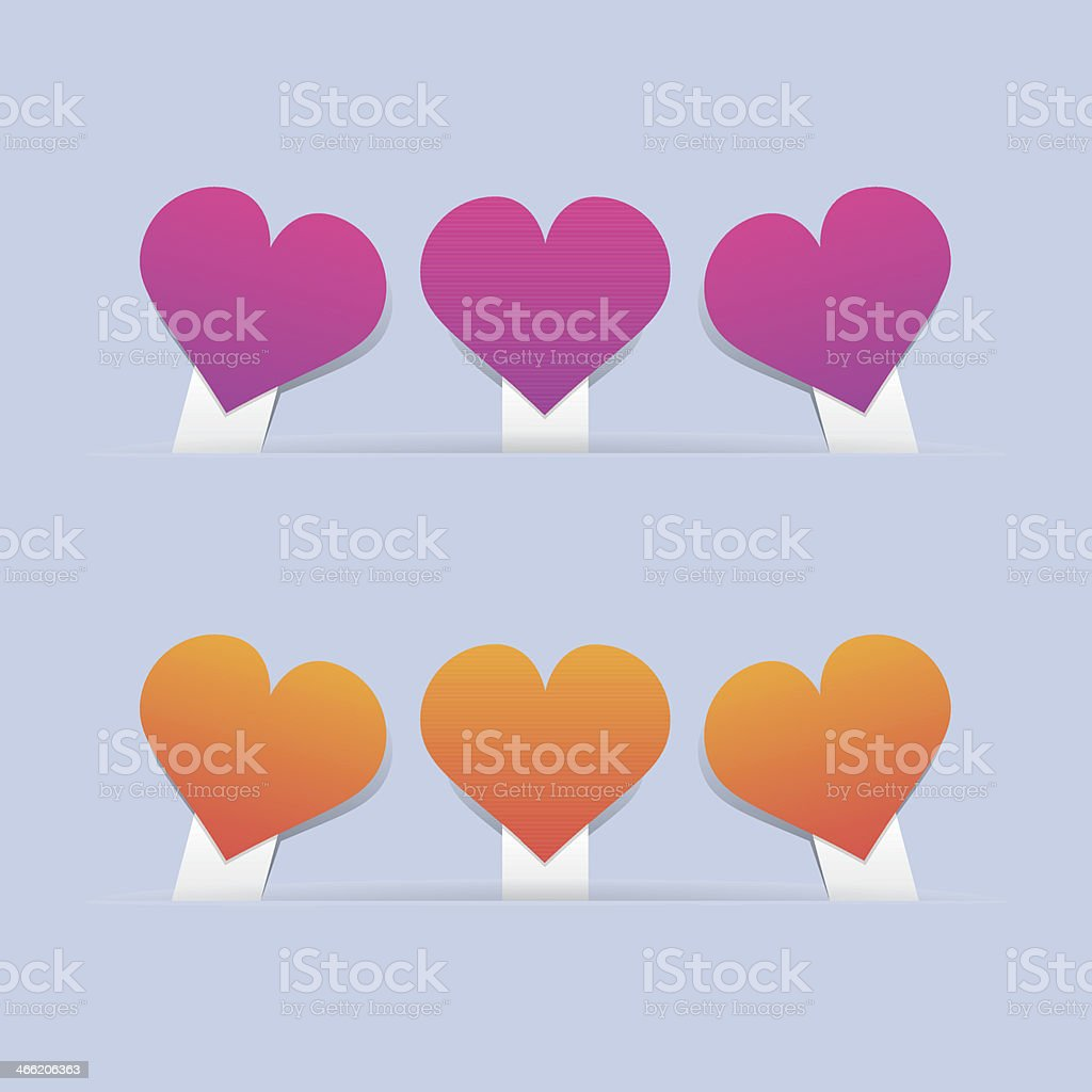 Heart Labels royalty-free stock vector art