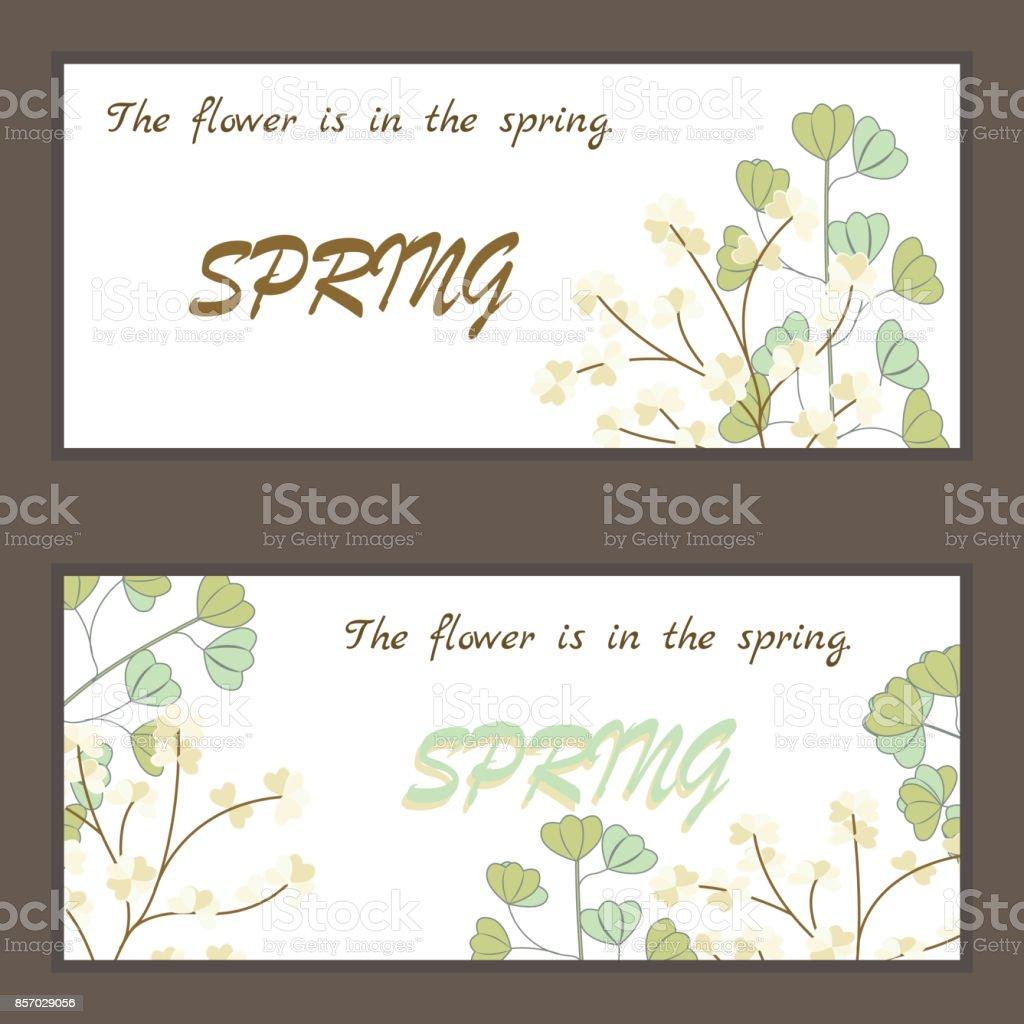 Ilustración de Hoja De Corazón La Flor Es En La Primavera Flor ...