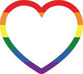heart frame - LGBT - LGBTQ - gay