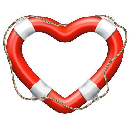Heart Lifebuoy. EPS 10