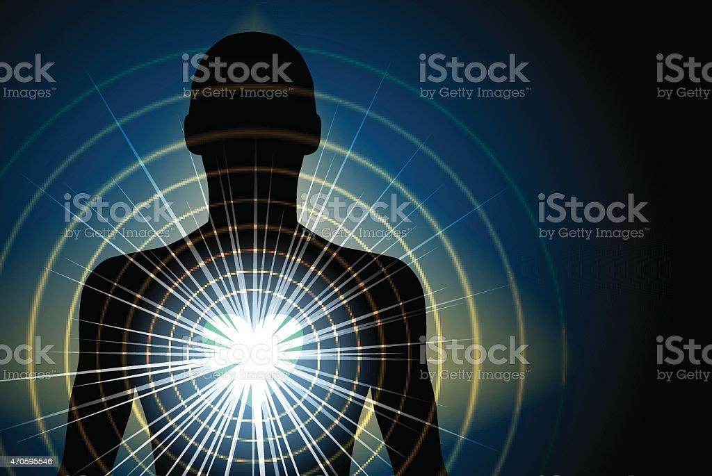 heart light vector art illustration
