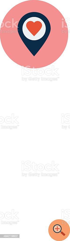Ilustración de Ubicación De Corazón Colorido Vector Ilustración y ...