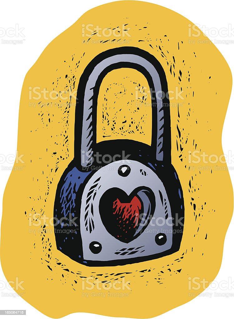 Heart Lock vector art illustration