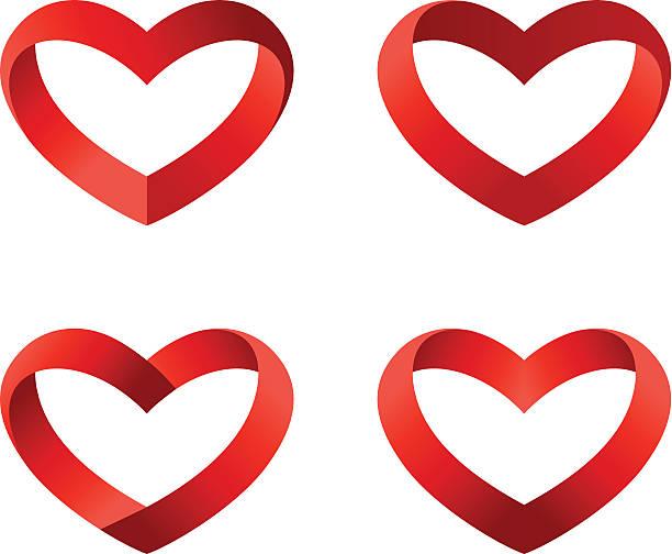Heart logo collection. Vector Infinite shapes. vector art illustration