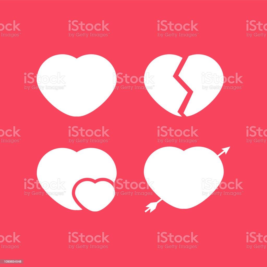 Coeur Amour Emoji Cœur Brise Fleche Et Star Carte De Voeux Happy Valentines Day Lettrage Vecteurs Libres De Droits Et Plus D Images Vectorielles De Abstrait Istock