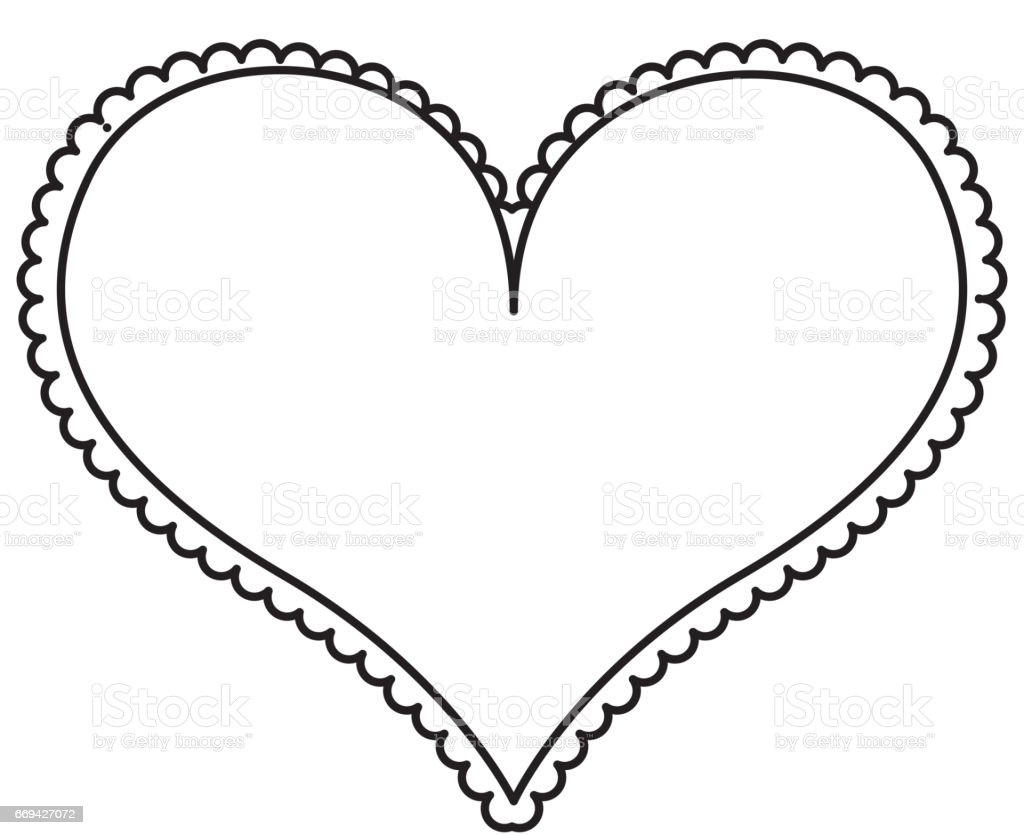 Ilustración de Icono Del Corazón Amor Marco y más banco de imágenes ...