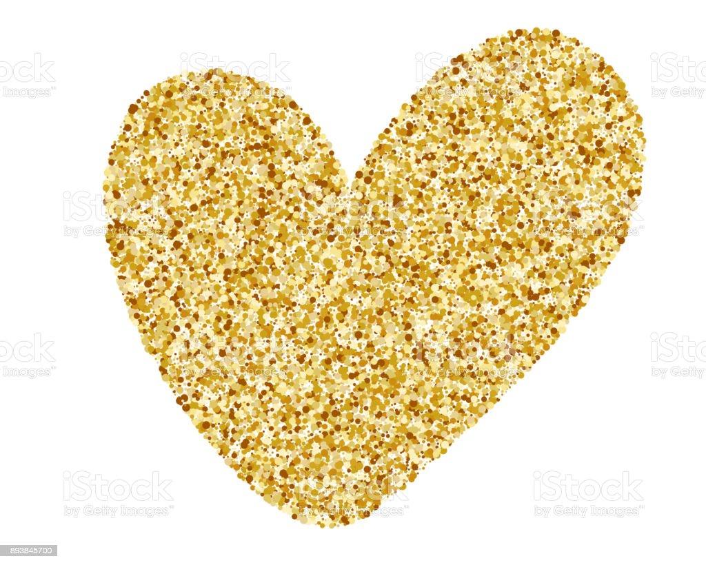 Heart Love Gold Golden Design Element Happy Valentines Day Card