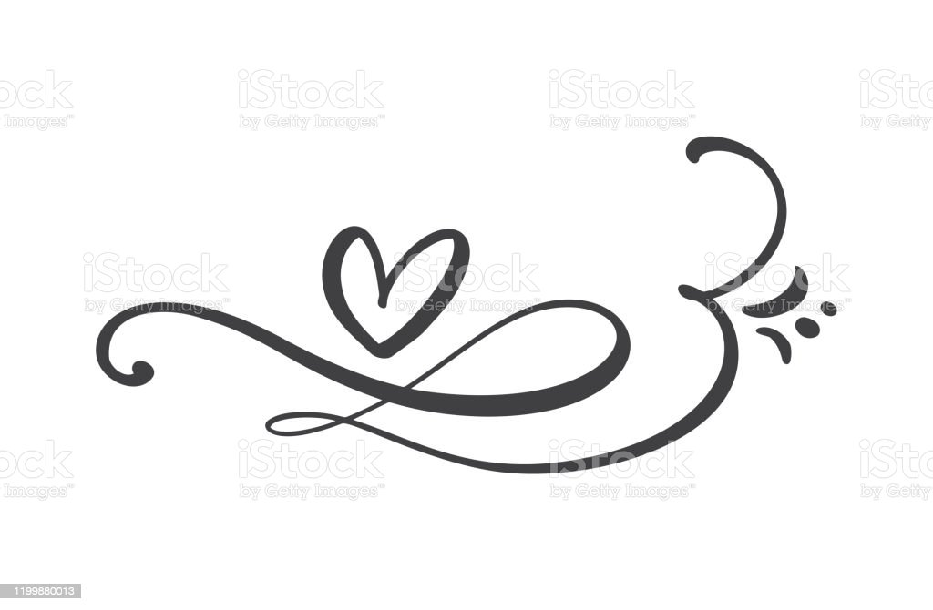Download Heart Love Logo With Infinity Sign Design Flourish Element ...