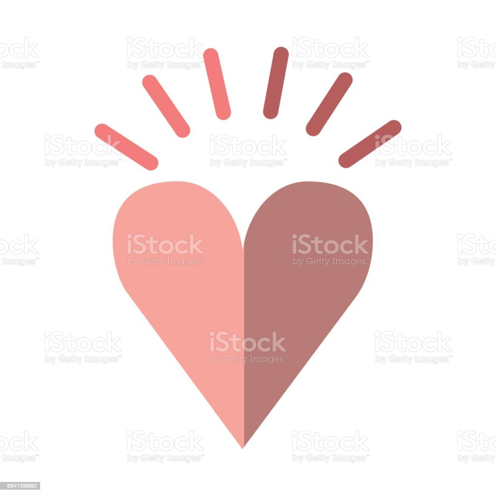 heart love romantic icon royalty-free heart love romantic icon stock vector art & more images of arts culture and entertainment