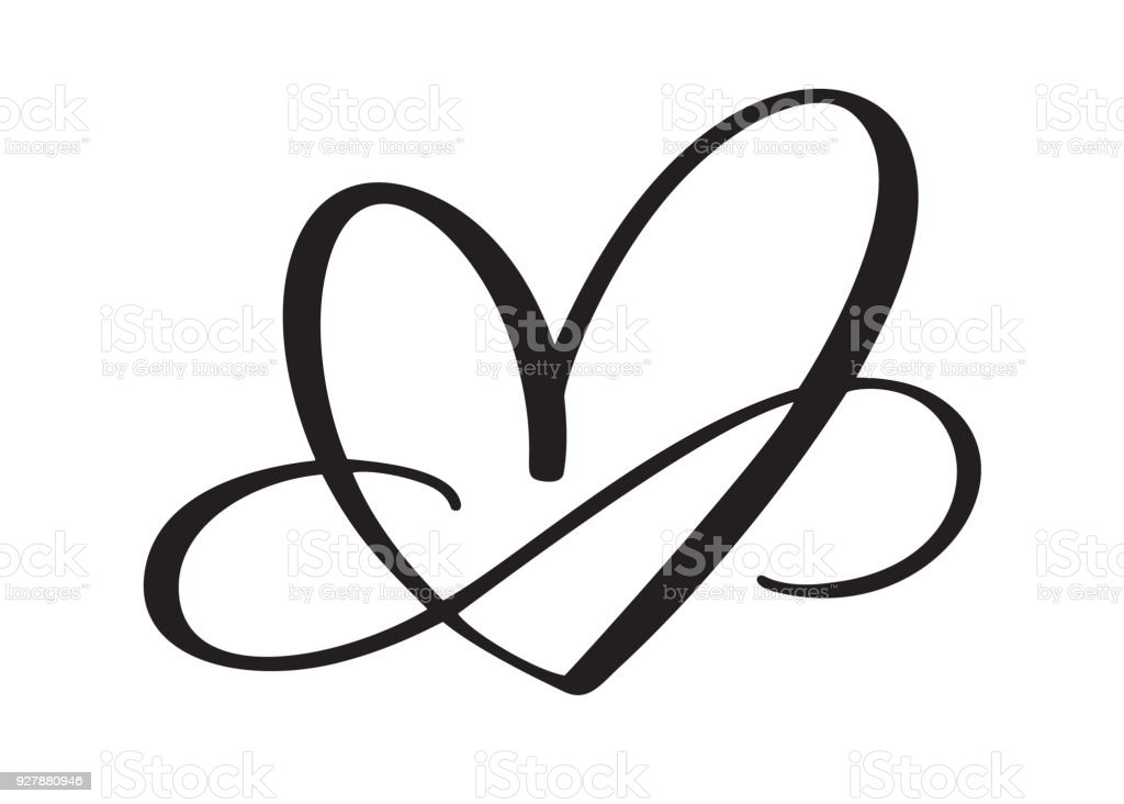 Herz Liebe Zeichen Für Immer Unendlich Romantischen Symbol Verknüpft ...