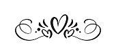 istock Heart love sign logo. Design flourish element valentine card for divider. Vector illustration. Infinity Romantic symbol wedding. Template for t shirt, card, poster 1203798332