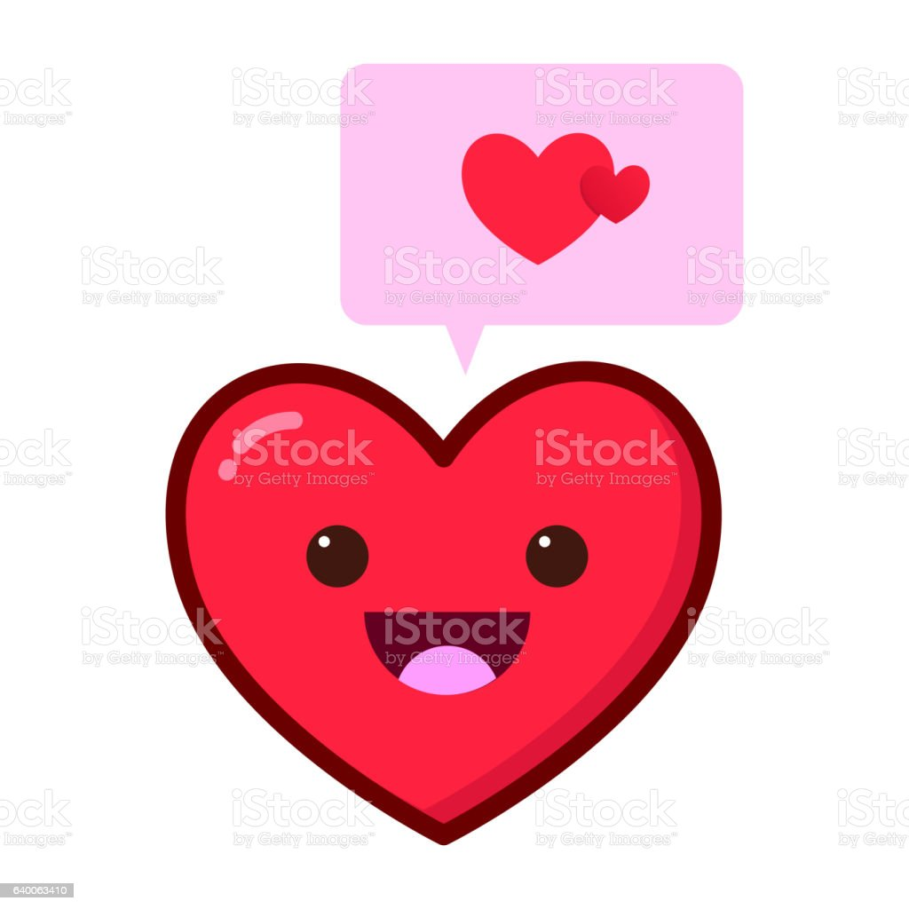 Heart Love Symbol With Speech Bubble Stock Vector Art More Images