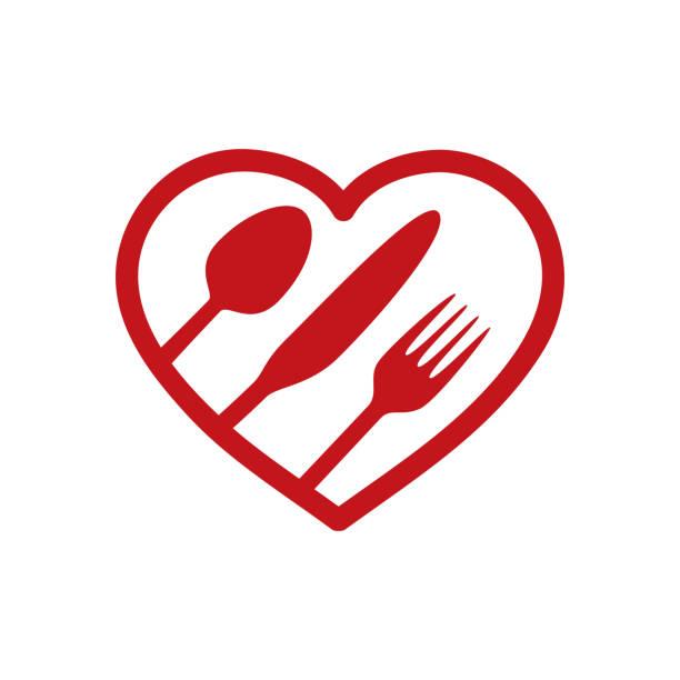 ilustrações, clipart, desenhos animados e ícones de almoço coração - fine dining