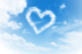 Heart made of clouds