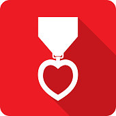 istock Heart Medal Icon Silhouette 1226097037