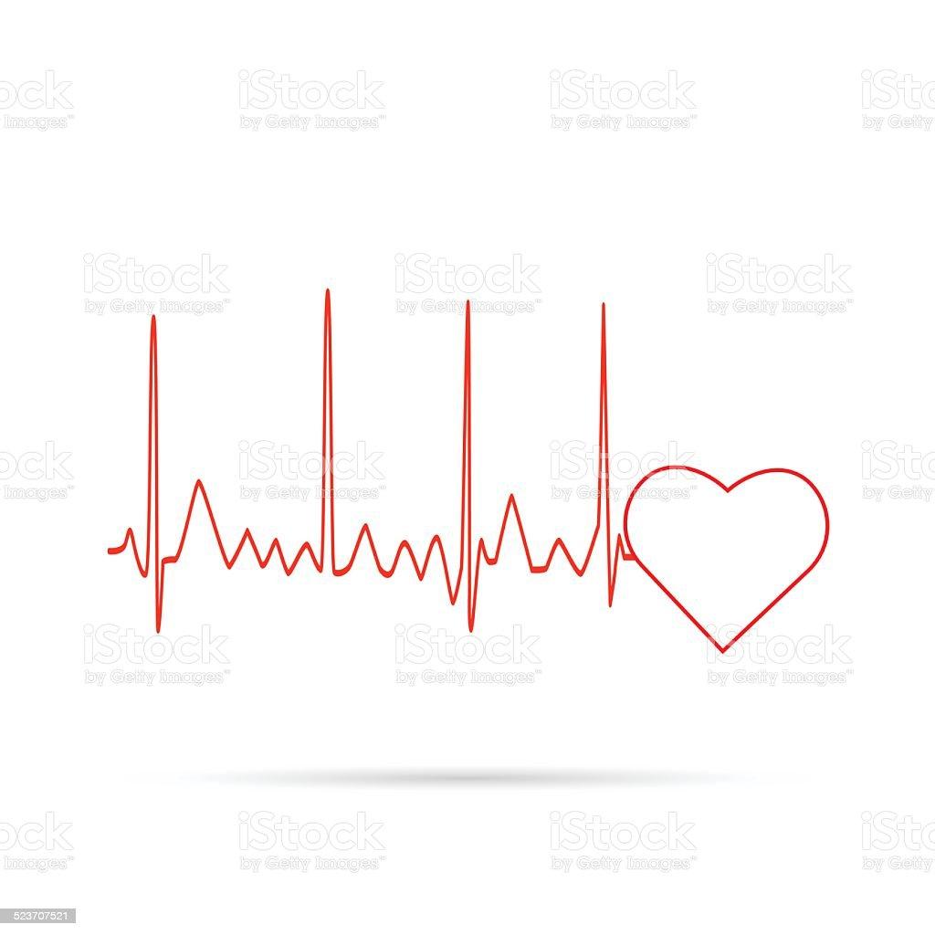 Heart Monitor Wave vector art illustration