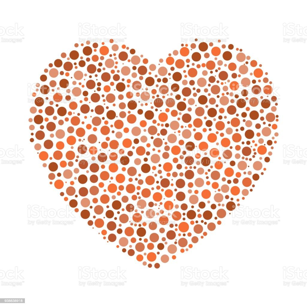 Heart Mosaic Of Dots Stock Illustration - Download Image Now