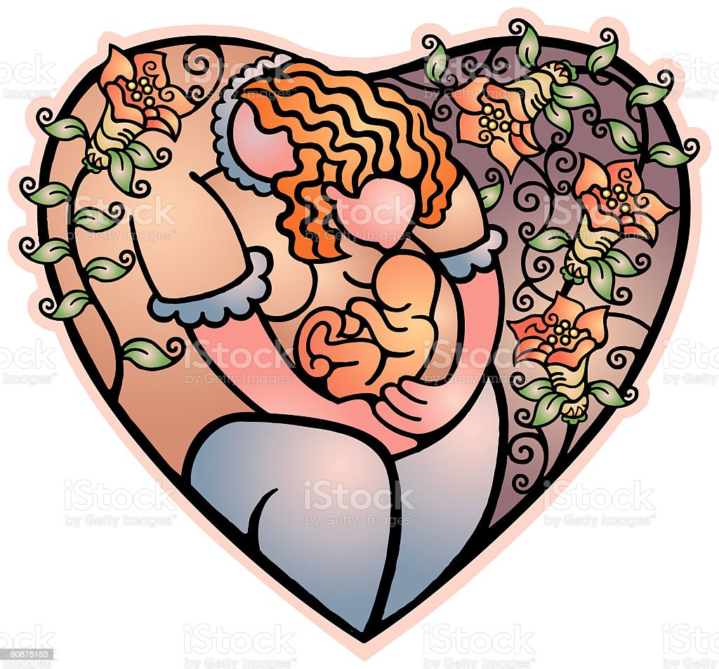 Heart - Mother (vector) royalty-free heart mother stock vector art & more images of adult