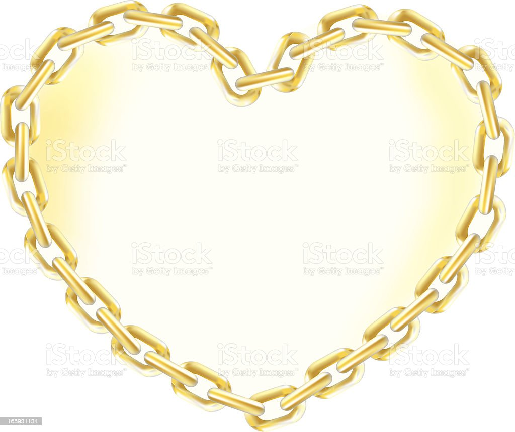 Heart of Gold Chain royalty-free stock vector art