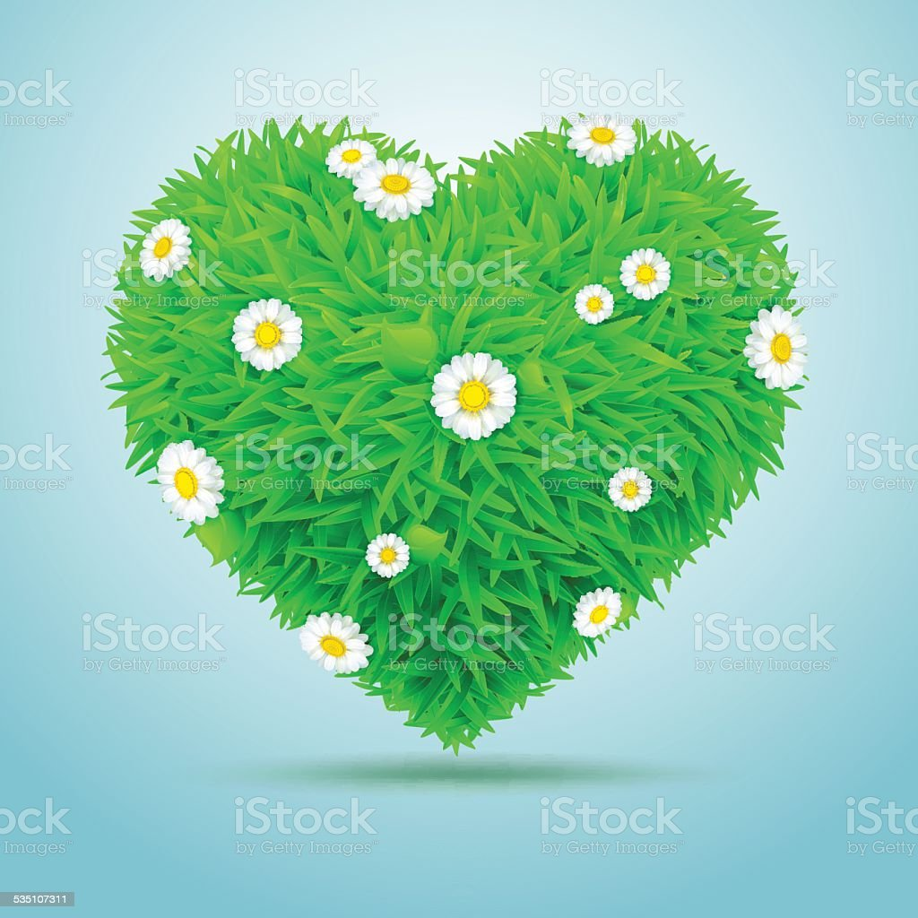 Heart of grass with flowers daisies stock vector art 535107311 istock heart of grass with flowers daisies royalty free stock vector art izmirmasajfo